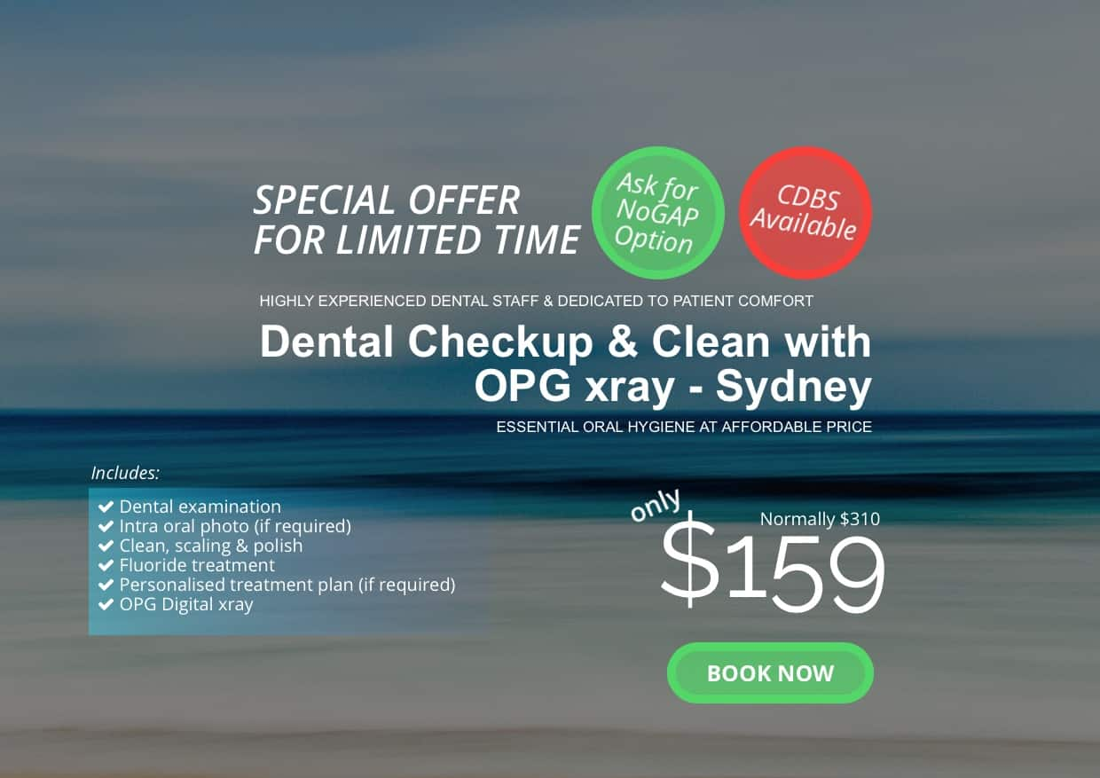 checkup & clean with OPG $159